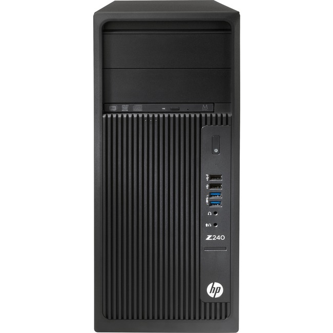 HP Z240 Tower Workstation - 1 x Processors Supported - 1 x Intel Core i7 (6th Gen) i7-6700 Quad-core (4 Core) 3.40 GHz