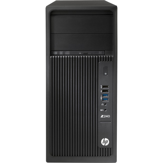 HP Z240 Mini-tower Workstation - 1 x Processors Supported - 1 x Intel Xeon E3-1230 v5 Quad-core (4 Core) 3.40 GHz - Blac