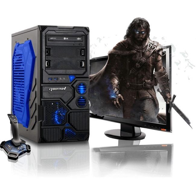 CybertronPC Borg-Q TGM4213D Desktop Computer - AMD FX-Series FX-4130 3.80 GHz - Mid-tower - Blue