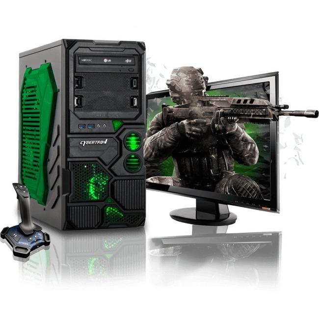CybertronPC Borg-Q TGM4213E Desktop Computer - AMD FX-Series FX-4130 3.80 GHz - Mid-tower - Green