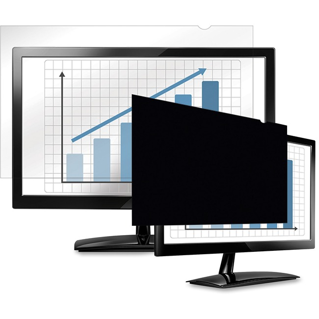 """Fellowes PrivaScreen Blackout Privacy Filter   23.8"""" Wide Black"""