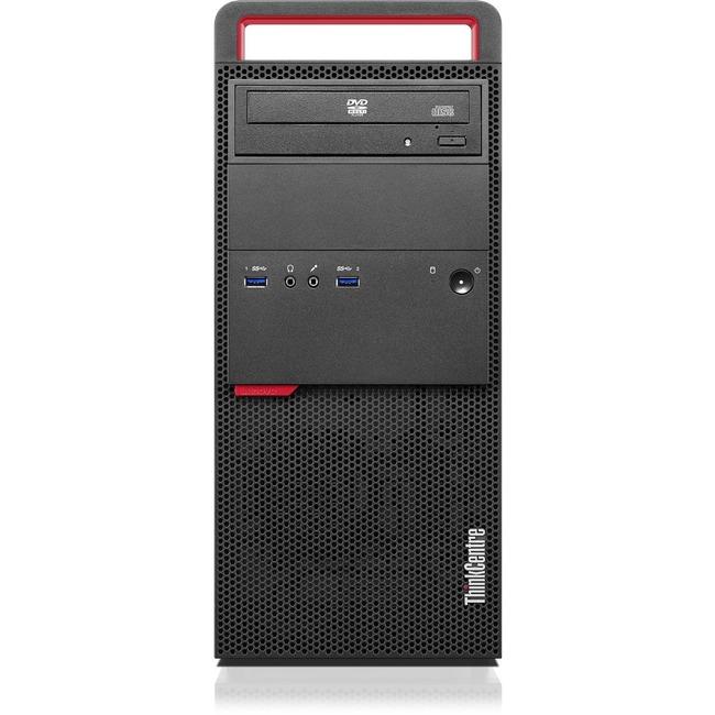 Lenovo ThinkCentre M800 10FW001NUS Desktop Computer | Intel Core i7 (6th Gen) i7-6700 3.40 GHz | 8 GB DDR4 SDRAM | 1 TB HDD | Windows 10 Pro 64-bit | Mini-tower | Black