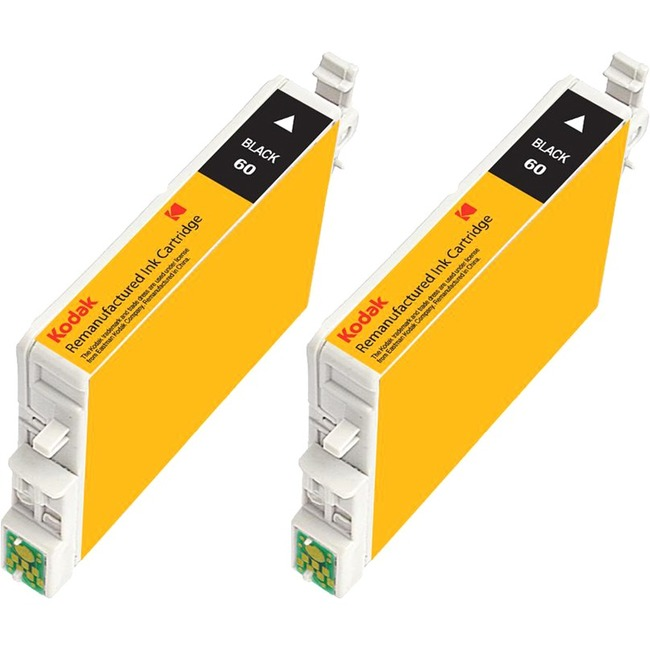 eReplacements Remanufactured Ink Cartridge - Alternative for Epson (60, T060 COMBO, T060120, T060120-D1/D2, T060120BK2-K