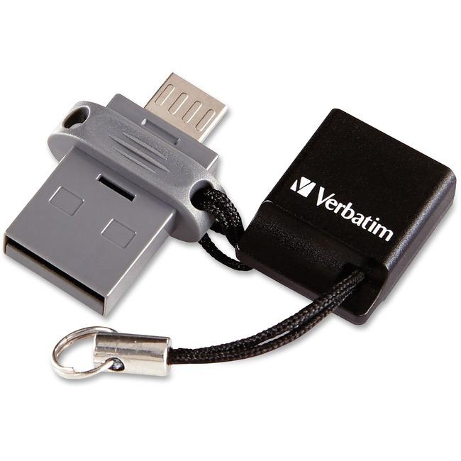 VERBATIM - AMERICAS LLC 32GB STORE N GO DUAL USB FLASH DRIVE FOR OTG DEVICES