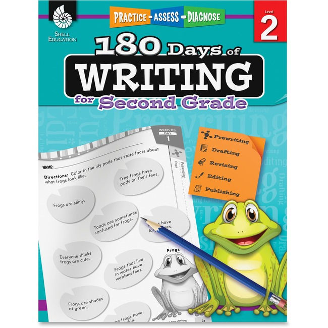 Shell 2nd Grade 180 Days of Writing Book Education Printed Book