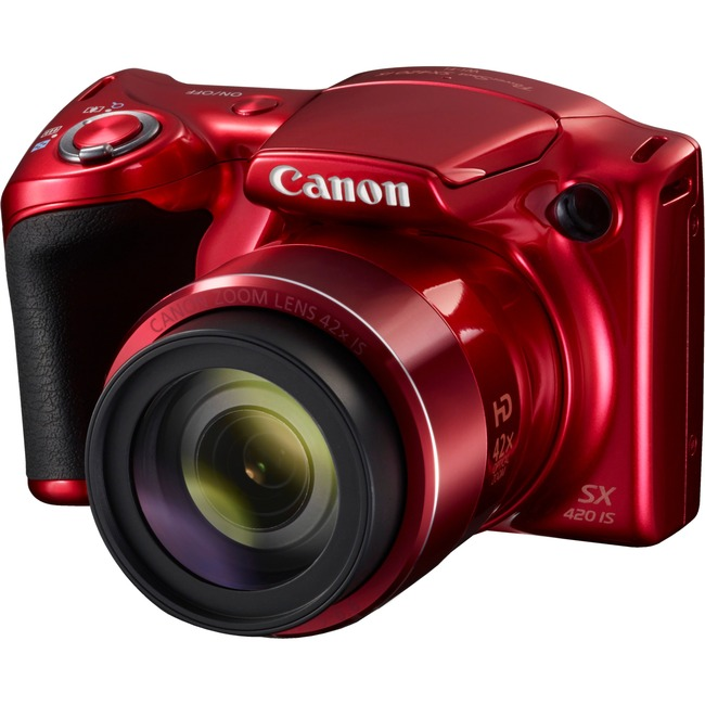 Canon PowerShot SX420 IS 20 Megapixel Compact Camera - Red