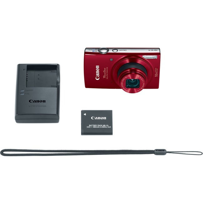 Canon PowerShot 190 IS 20 Megapixel Compact Camera - Red