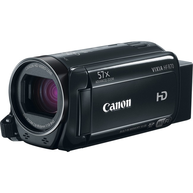"Canon VIXIA R70 Digital Camcorder - 3"" - Touchscreen LCD - HD CMOS - Full HD"