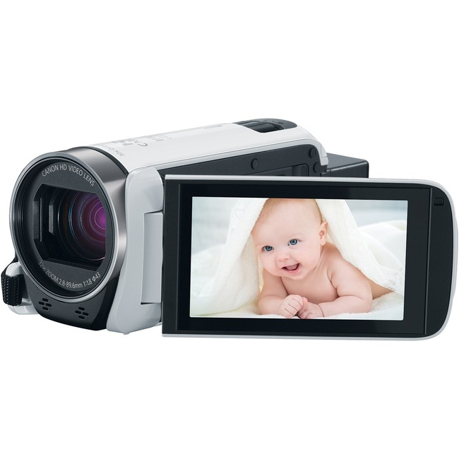 "Canon VIXIA R700 Digital Camcorder - 3"" - Touchscreen LCD - HD CMOS - Full HD - White"