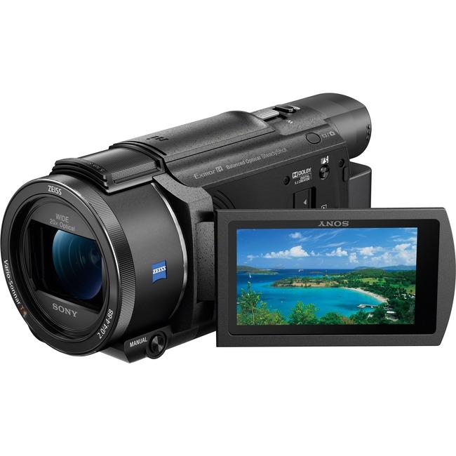 "Sony Handycam FDR-AX53 Digital Camcorder - 3"" - Touchscreen LCD - Exmor R CMOS - 4K - Black"