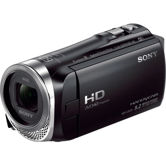 "Sony Handycam HDR-CX455 Digital Camcorder - 3"" - Touchscreen LCD - Exmor R CMOS - Full HD - Black"