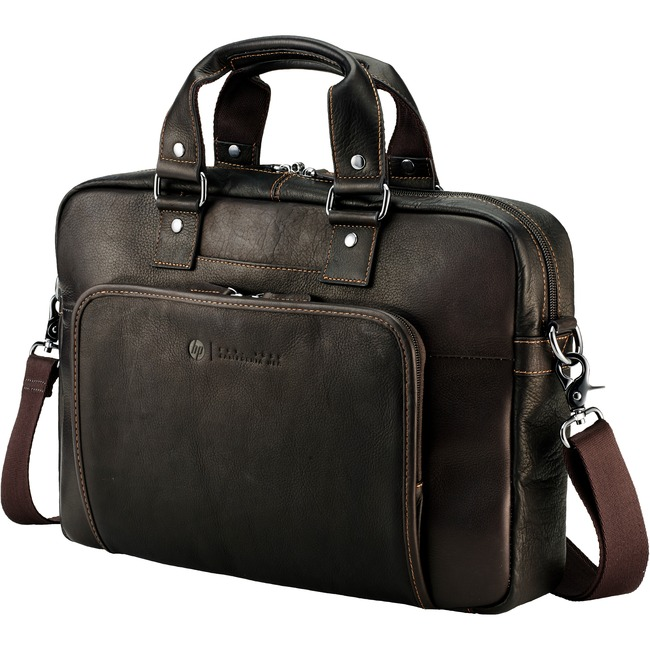 "HP Elite T9H72AA Carrying Case (Briefcase) for 14"" Notebook - Brown"