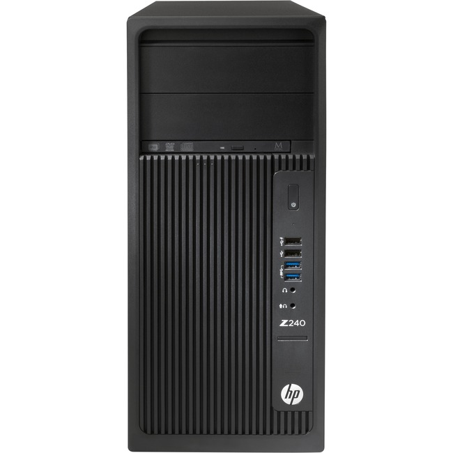 HP Z240 Tower Workstation - 1 x Processors Supported - 1 x Intel Xeon E3-1270 v5 Quad-core (4 Core) 3.60 GHz - Black