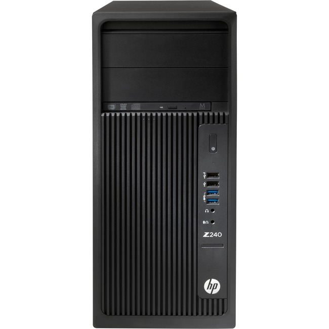 HP Z240 Tower Workstation - 1 x Processors Supported - 1 x Intel Xeon E3-1245 v5 Quad-core (4 Core) 3.50 GHz - Black