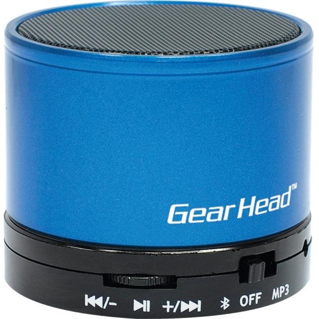 Gear Head BT3500BLU Speaker System - Portable - Battery Rechargeable - Wireless Speaker(s) - Blue, Black