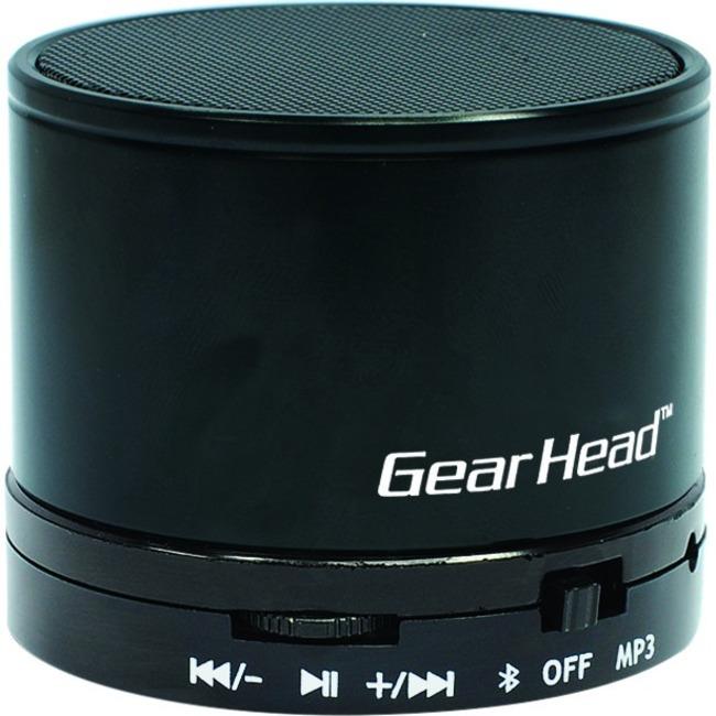 Gear Head BT3500BLK Speaker System - Portable - Battery Rechargeable - Wireless Speaker(s) - Black