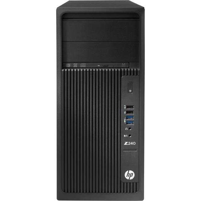 HP Z240 Workstation - 1 x 3.40 GHz - 16 GB DDR4 SDRAM - 256 GB SSD - Windows 7 Professional 64-bit - Tower - Black