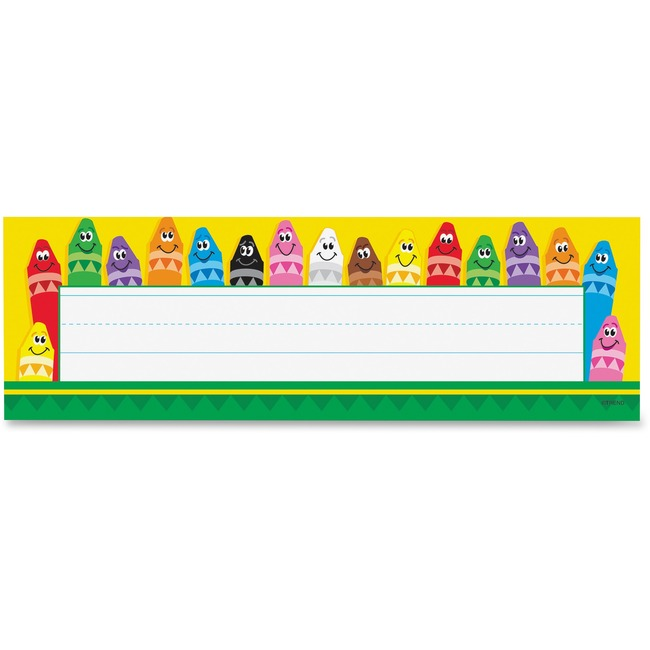 Trend Colorful Crayons Name Plates