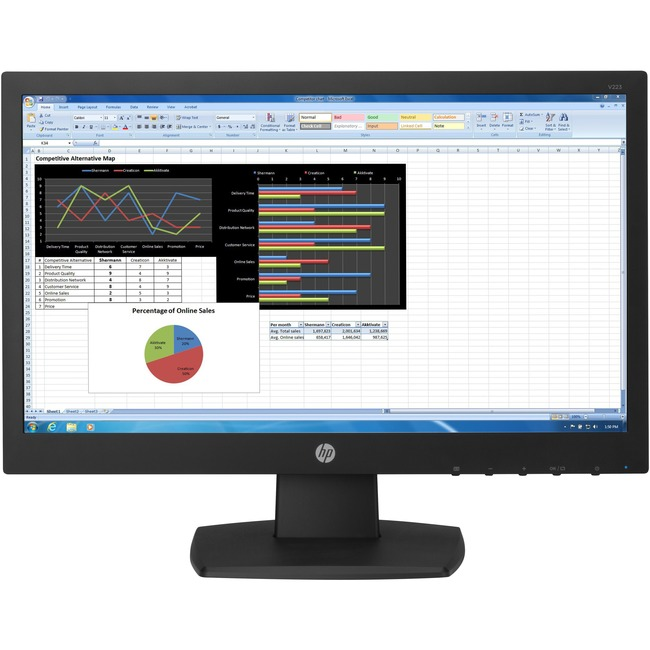 "HP Business V223 21.5"" LED LCD Monitor 