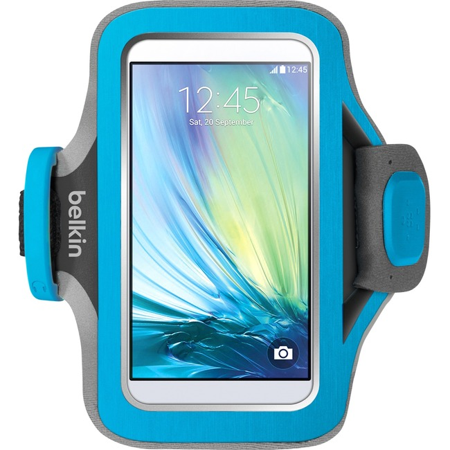 Belkin Slim-Fit Plus Carrying Case (Armband) for Smartphone - Blue