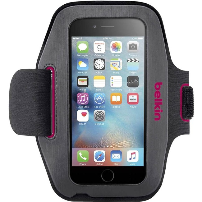 Belkin Sport-Fit Carrying Case (Armband) for iPhone 6, iPhone 6S - Cameo Pink