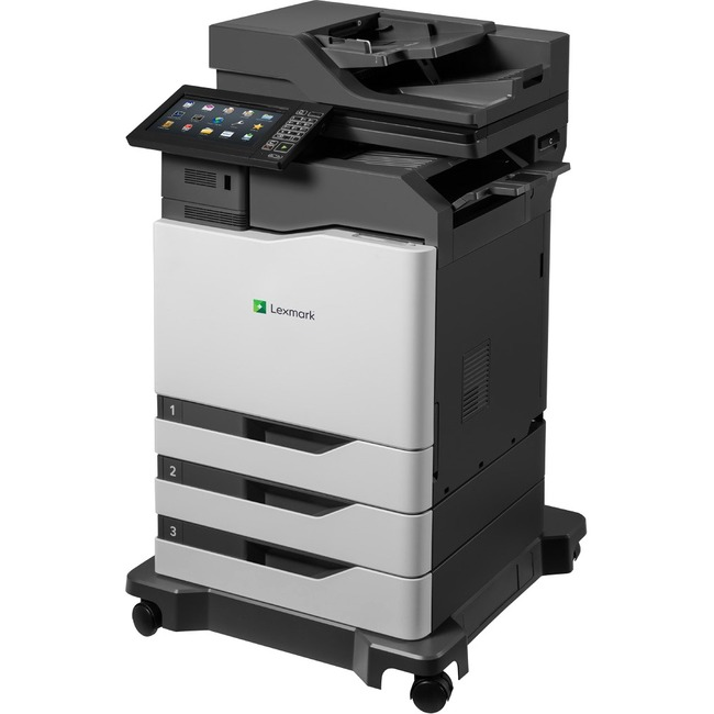 Lexmark CX825dte Laser Multifunction Printer - Color - Plain Paper Print - Floor Standing