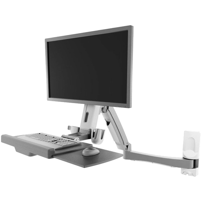ATDEC - DT SB SIT-TO-STAND WALL WORKSTATION WHITE