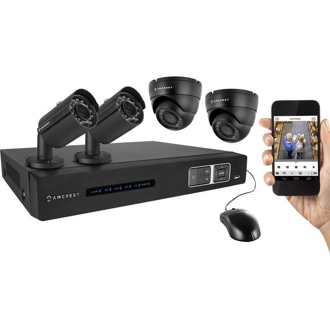 Amcrest Tribrid AMDV7204M-2B2D-B Video Surveillance System
