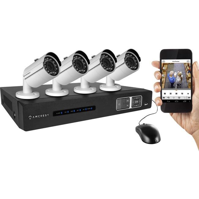 Amcrest Tribrid AMDV7204M-4B-W Video Surveillance System