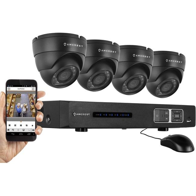 Amcrest Tribrid AMDV7204M-4D-B Video Surveillance System