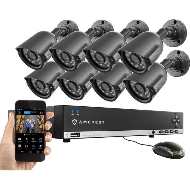 Amcrest 960H 8CH 1TB DVR Security Camera System w/ 8 x 800+ TVL Bullet Cameras
