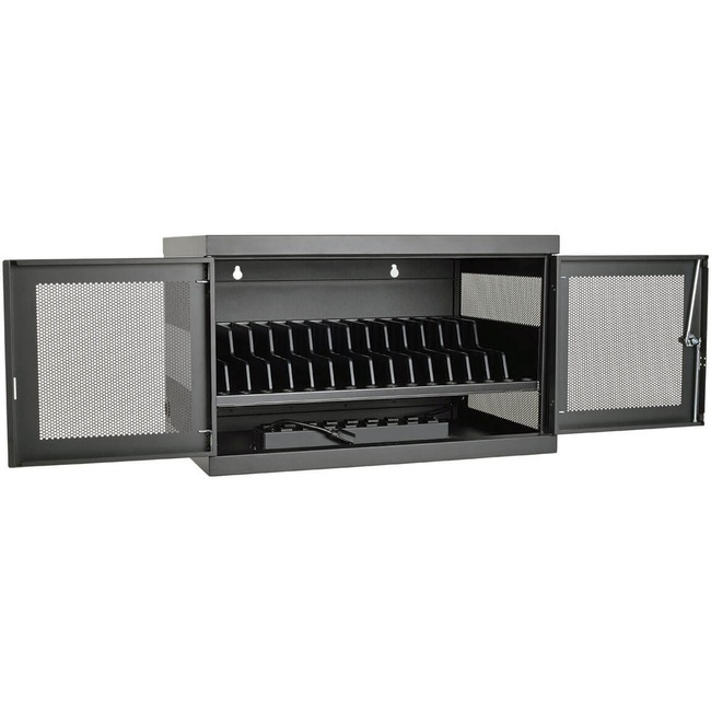 Tripp Lite 16-Port AC Charging Cart Storage Station Chromebook Laptop Tablet