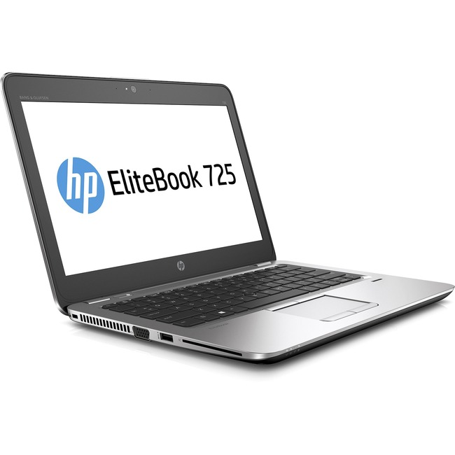 "HP EliteBook 725 G3 12.5"" Notebook - AMD A-Series A12-8800B Quad-core (4 Core) 2.10 GHz - 8 GB DDR3L SDRAM - 128 GB SSD"