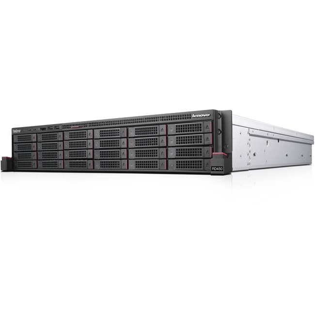 Lenovo ThinkServer RD450 70QQ0015UX 2U Rack Server | 1 x Intel Xeon E5-2620 v4 Octa-core (8 Core) 2.10 GHz