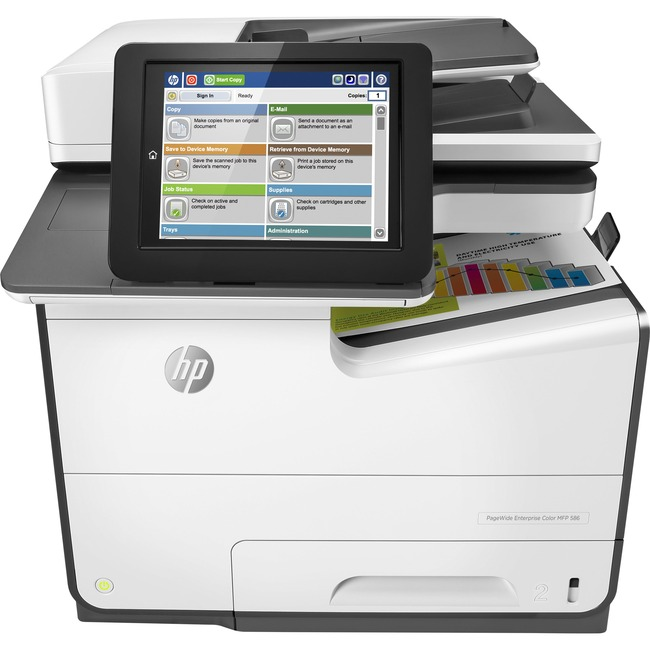 HP PageWide Enterprise 586dn Page Wide Array Multifunction Printer - Color - Plain Paper Print - Desktop