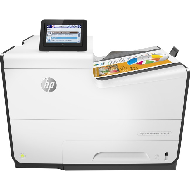 HP PageWide Enterprise 556dn Page Wide Array Printer - Color - 2400 x 1200 dpi Print - Plain Paper Print - Desktop