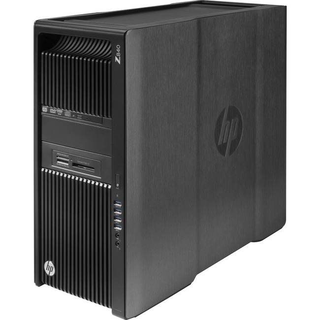 HP Z840 Convertible Mini-tower Workstation | 2 x Processors Supported | 2 x Intel Xeon E5-2620 v4 Octa-core (8 Core) 2.10 GHz | Black