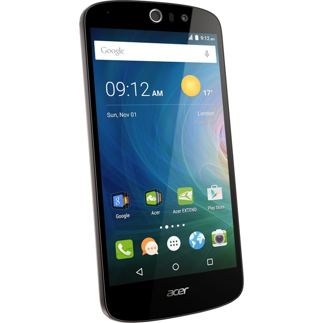 Acer Liquid Z530 Smartphone - 8 GB Built-in Memory - Wireless LAN - 4G - Bar - Black