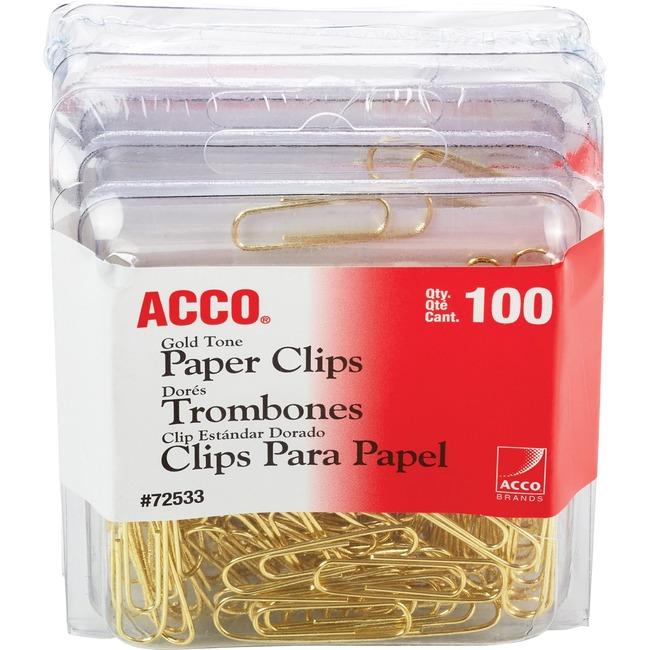 Acco Gold Tone Paper Clips