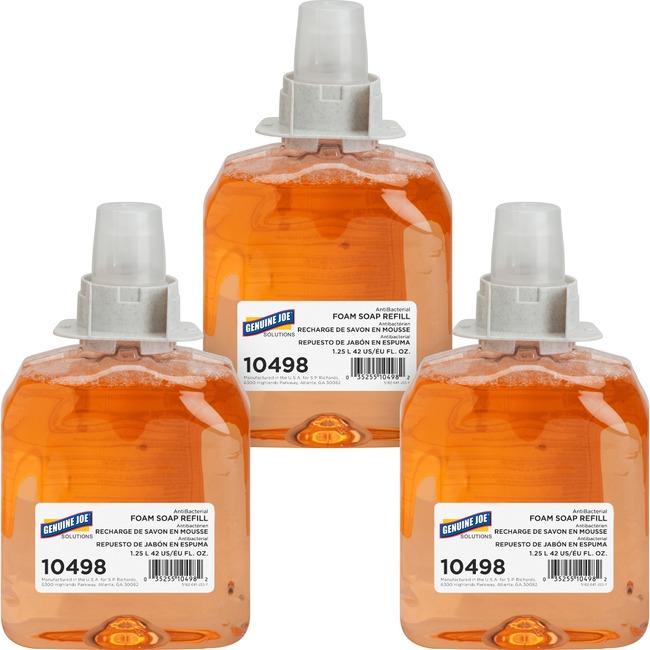 Genuine Joe Solutions Antibacterial Foam Soap Refill
