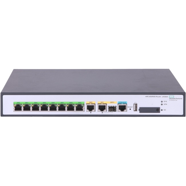 HP FlexNetwork MSR958 1GbE and Combo 2GbE WAN 8GbE LAN Router