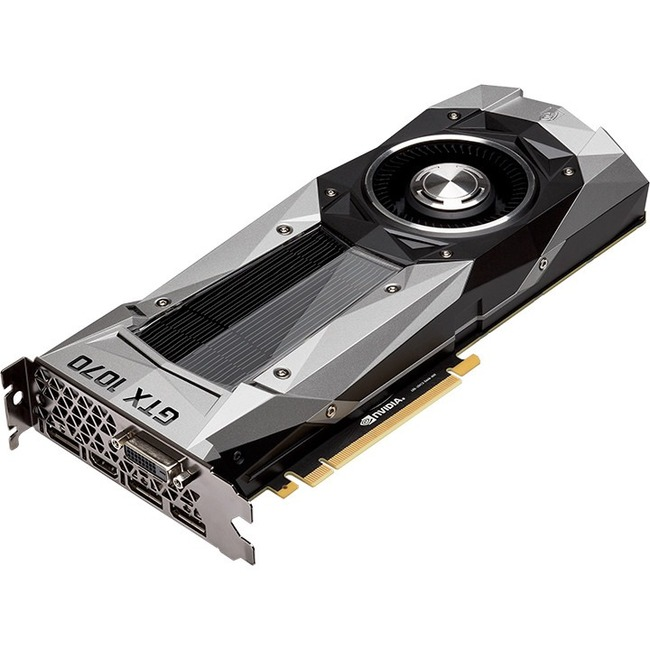 PNY GeForce GTX 1070 Graphic Card | 1.51 GHz Core | 1.68 GHz Boost Clock | 8 GB GDDR5 | PCI Express 3.0 x16 | Dual Slot Space Required