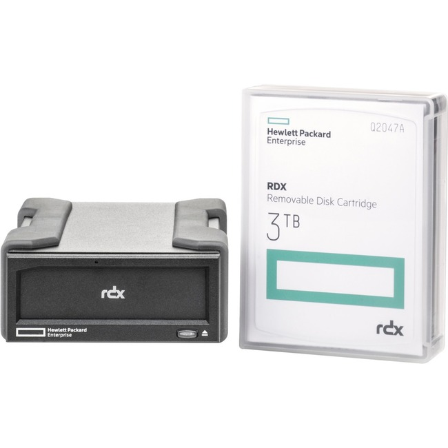 HPE 3 TB Hard Drive Cartridge - External - Removable