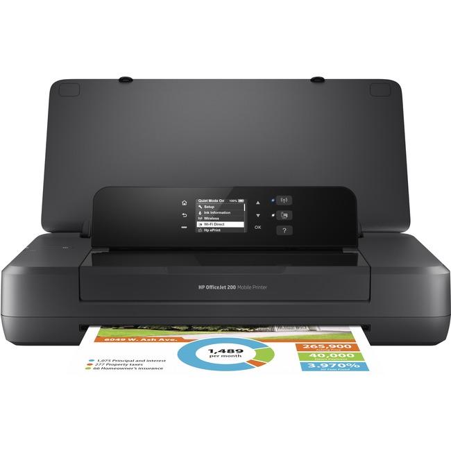 HP Officejet 200 Inkjet Printer - Color - 4800 x 1200 dpi Print - Photo Print - Portable