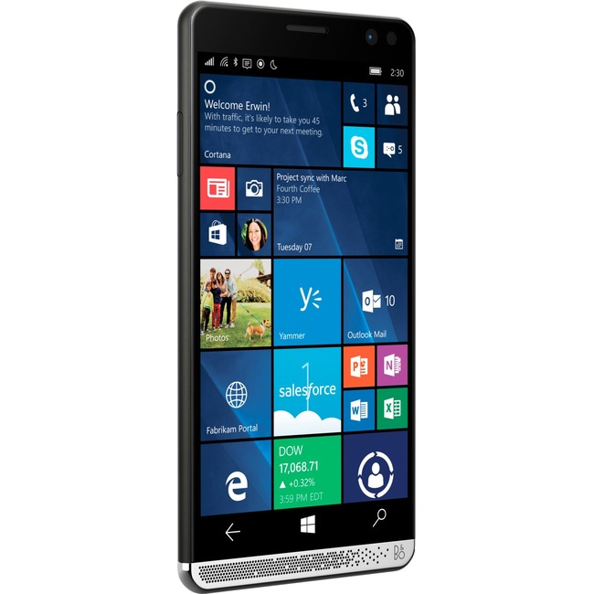HP Elite x3 Smartphone - 64 GB Built-in Memory - Wireless LAN - 4G - Bar - Black
