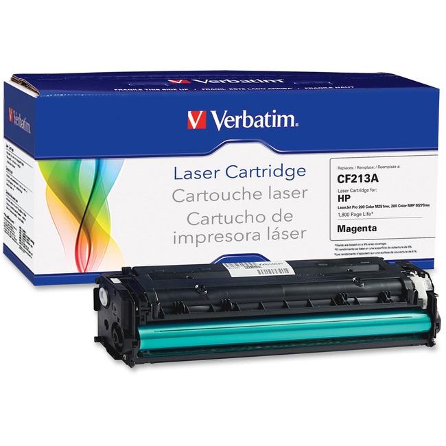 Verbatim Remanufactured Laser Toner Cartridge alternative for HP CF213A Magenta