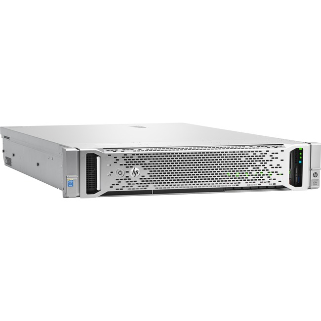 HP ProLiant DL380 G9 2U Rack Server | 1 x Intel Xeon E5-2640 v4 Deca-core (10 Core) 2.40 GHz | 16 GB Installed DDR4 SDRAM | Serial ATA/600, 12Gb/s SAS Controller | 1 x 500 W