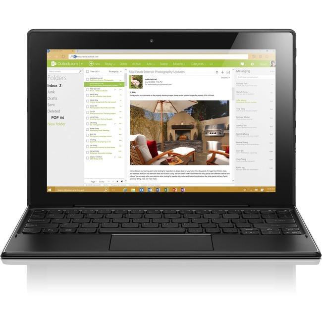 "Lenovo IdeaPad MIIX 310-10ICR 80SG001GUS 10.1"" Touchscreen 2 in 1 Netbook - Intel Atom x5-Z8350 Quad-core (4 Core) 1.44"