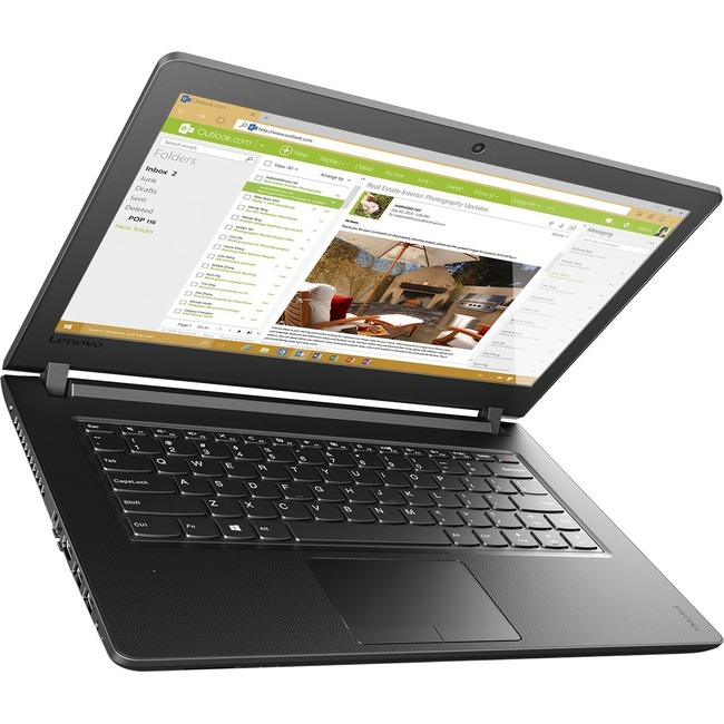 "Lenovo IdeaPad 110-15IBR 80T70012US 15.6"" Notebook - Intel Celeron N3060 Dual-core (2 Core) 1.60 GHz - 4 GB DDR3L SDRAM"