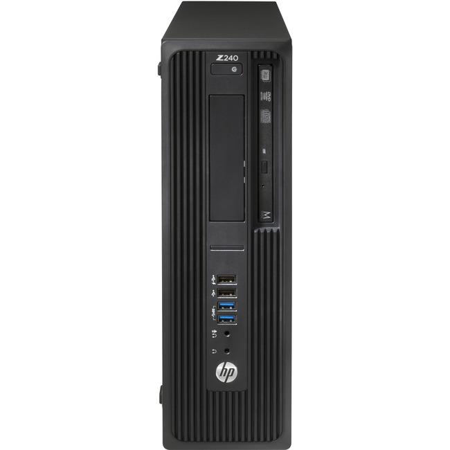 HP Z240 Workstation - 1 x Intel 3.30 GHz - 16 GB DDR4 SDRAM - 512 GB SSD - Linux - Small Form Factor - Black